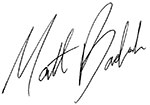 Matt Badiali signature