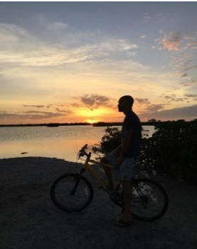 bike ride at sunset
